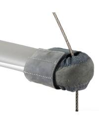 Embout  de barre de flèches en cuir naturel 55-95 mm