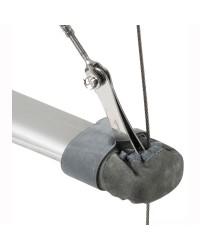 Embout de barre de flèches en cuir naturel 105-122 mm
