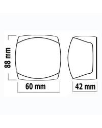 Feu de navigation LED Sphera2 bicolore 225° - 20 M boitier blanc