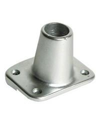 Platines pour profilé de fargue alu droite pour chandelier Ø25mm