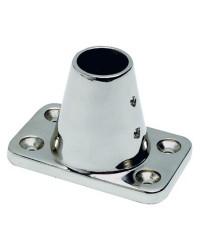 Platine chandelier droit pour chandelier Ø25mm - base 90x56