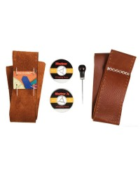 Kit pour revêtir une barre à roue de cuir marron