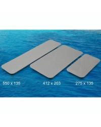 Revêtement TREADMASTER auto adhésif 275x135mm - gris clair X 2 pièces