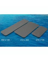 Revêtement TREADMASTER auto adhésif 412x203mm - gris X 2 pièces