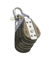 Poulie triple billes fixe + manille pour corde de 10 - 38 mm de réa