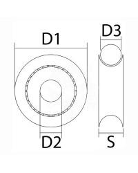 Réa en delrin pour corde de 5 mm - noir