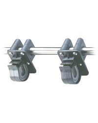 Support + collier Ø20/25mm pour balcon