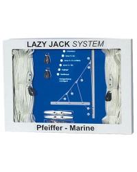 Kit lazy jack jusqu'à 30 pieds (bouts en nylon, 6 poulies, renvois et 2 taquets COINCEUR)