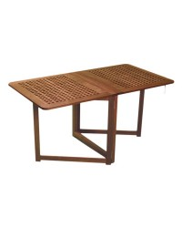 Table teck pliante 78x145x70cm