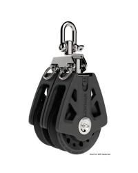 Poulie double LEWMAR Ø50mm pour corde 6/10mm - noire