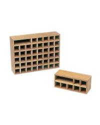 Rangement casiers en teck pour 7 pavillons 26x11x10,5cm