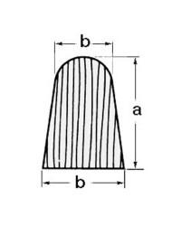 Profil teck en croissant 28x20 par 2 mètres