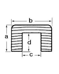 Profil cache-câble teck