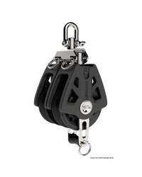 Poulie double à ringot LEWMAR Ø72mm pour corde 10/12mm - noire