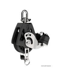 Poulie simple à ringot et coinceur LEWMAR Ø50mm pour corde 6/10mm - noire