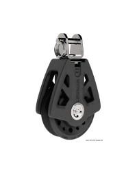 Poulie simple à chape LEWMAR Ø50mm pour corde 6/10mm - noire