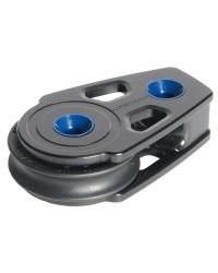 Poulie plat pont 60mm - pour corde 8/10mm - noire