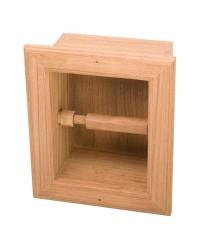 Distributeur de papier hygiénique à encastrer bois 240x150x150mm