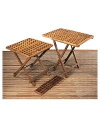 Table teck pliante 60x60