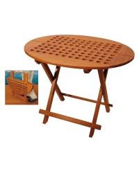 Table teck ovale 80x65x57cm