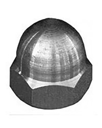 Ecrous borgne DIN 1587 inox A4 - 6 X 10