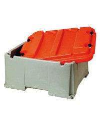 Bac à batterie grande capacité 2 batteries - 120 à 200 A - 520 x 585 x 320 mm