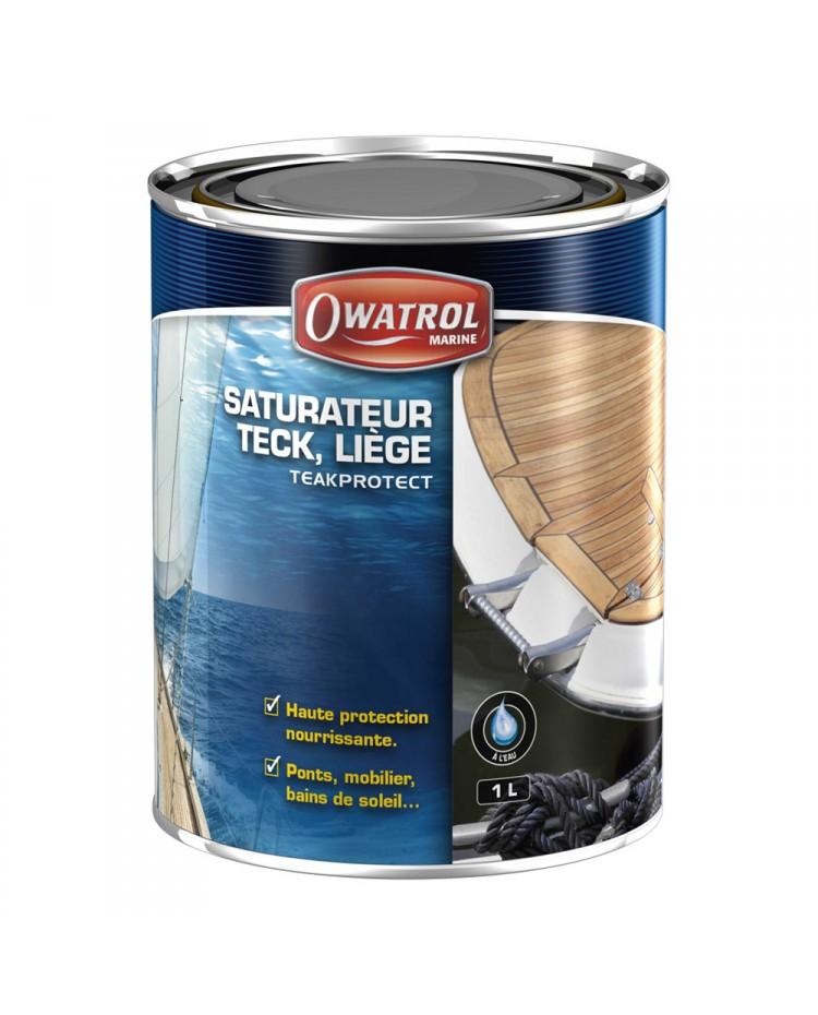 saturateur bois l 39 eau teak protect miel 5 litres. Black Bedroom Furniture Sets. Home Design Ideas