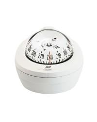 Compas Offshore 75 éclairé mini-fût horiz., blanc, rosace blanche