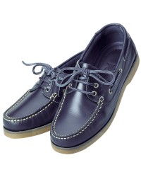 Chaussures Crew homme cuir marine 40