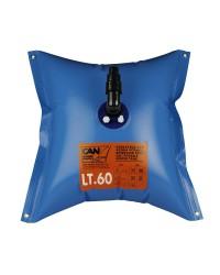 Réservoir d'eau douce souple elastomère - 60 litres - 73x73 cm