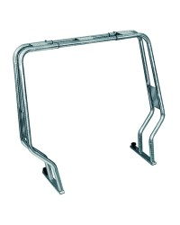 Roll bar pour semi-rigide - tube inox 40 mm - H120 cm - 156 / 206 cm