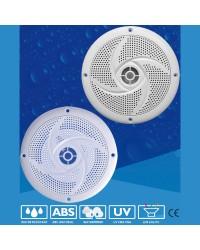 Haut parleur JAZZ - la paire - 60 W - blanc - avec LED bleue