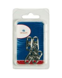 Attache mâle Tenax avec plaque fixable blister de 5 pièces