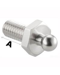 Attache mâle avec vis et écrou. Longueur A 10 mm - par 5