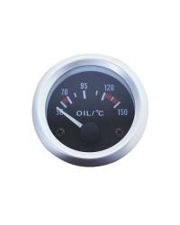 Afficheur température d'huile avec sonde - Ecoline - Ø 52 mm - Fond noir