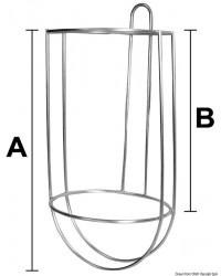 Porte pare-battage inox à composer ø21,5cm EASY FENDER