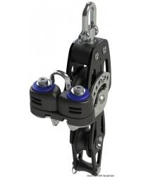 Poulie violon avec ringot et coinceur HTX 72mm pour corde 14mm