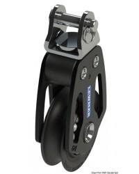 Poulie simple tête basculante HTX 60mm pour corde 12mm