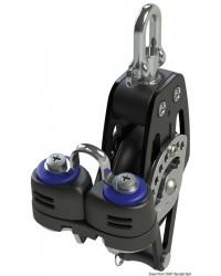 Poulie simple avec ringot et coinceur HTX 50mm pour corde 6/10mm