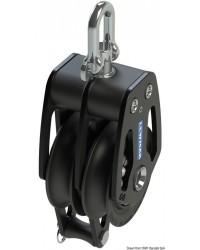 Poulie double avec ringot HTX 60mm pour corde 8/12mm