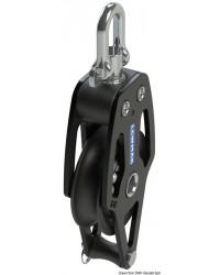 Poulie simple avec ringot HTX 72mm pour corde 8/14mm