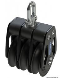 Poulie triple HTX 50mm pour corde 6/10mm