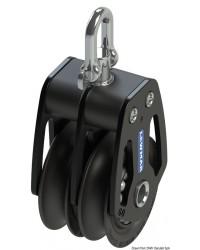 Poulie double HTX 50mm pour corde 6/10mm
