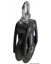 Poulie simple HTX 90mm pour corde 10/16mm