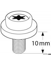 Bouton universel CAF-COMPO noir - filet métrique