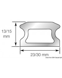 Rail taille 1 - 23x13x1526mm LEWMAR pour voilier jusqu'à 10M