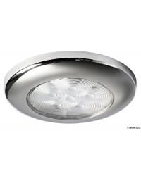 Plafonnier étanche inox miroir à 6 LED lumière blanche