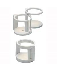 Porte-verre 1/2 places fixation vis ou ventouses 48.429.80