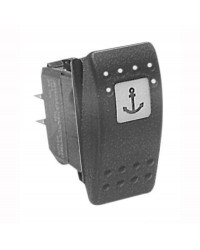 Interrupteur CARLING SWITCH Contura II - LED rouge - 12 V ON-OFF-(ON) 4 poles