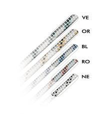 Drisse polyester  Marlowbraid Blanc - témoin Bleu - ø8 mm - bobine de 200 M